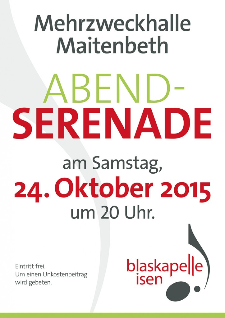 Abendserenade in Maitenbeth am 24.10.2015 um 20:00