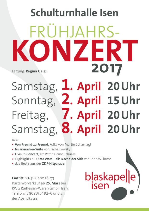 Blaskapelle Isen Frühjahrskonzert 2017