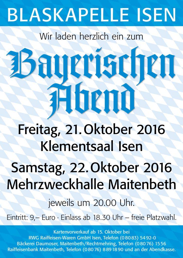Bayerischer Abend 2016