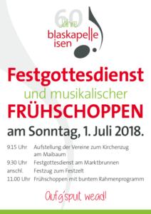 Blaskapelle Isen Festsonntag 2018