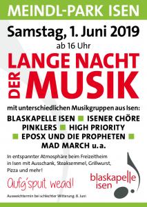 Blaskapelle Isen Lange Nacht der Musik 2019