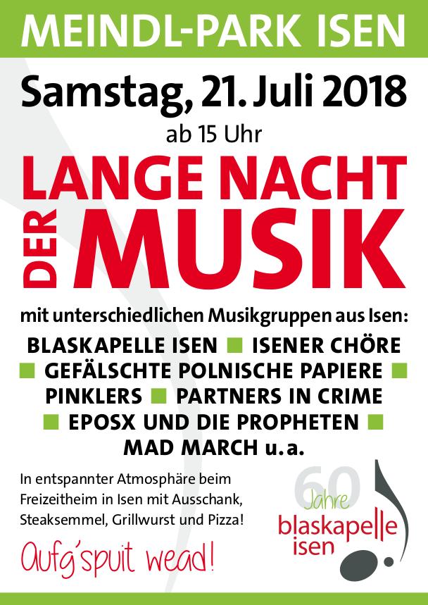 Blaskapelle Isen Lange Nacht der Musik 2018