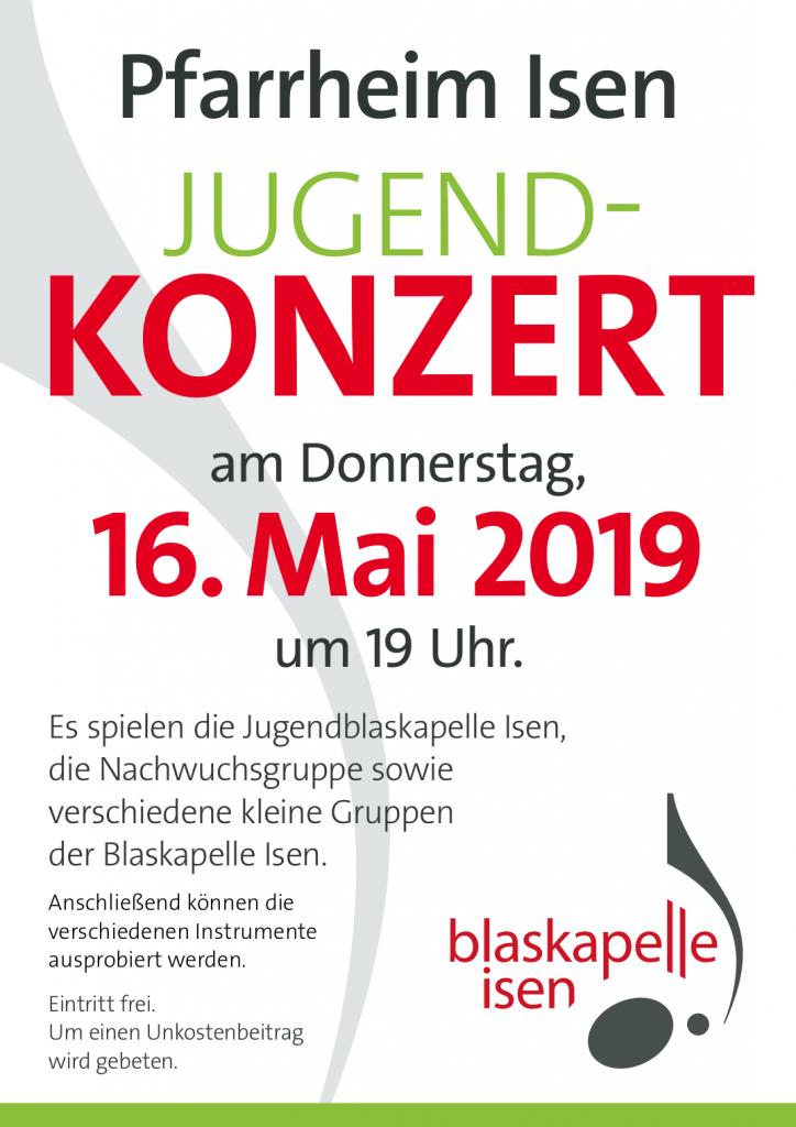 Jugendkonzert 16. Mai 2019 19:00