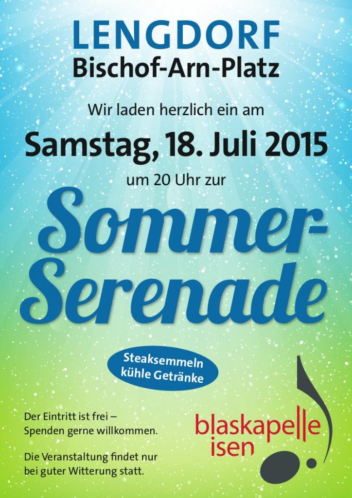 Sommerserenade am 18. Juli 2015 in Lengdorf